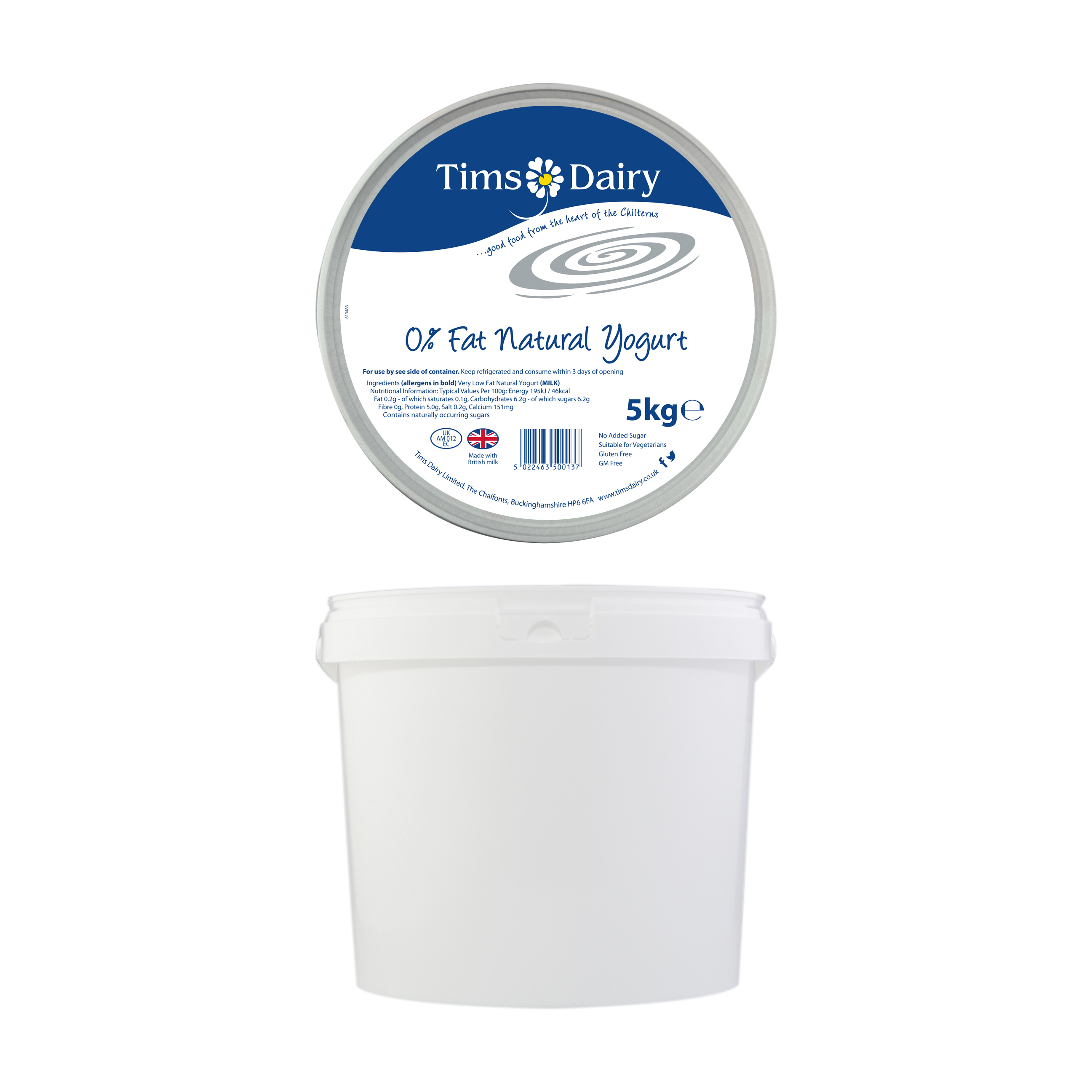 0% Fat Natural Yogurt