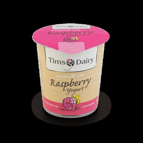 Wholemilk Live Raspberry Yogurt 150g