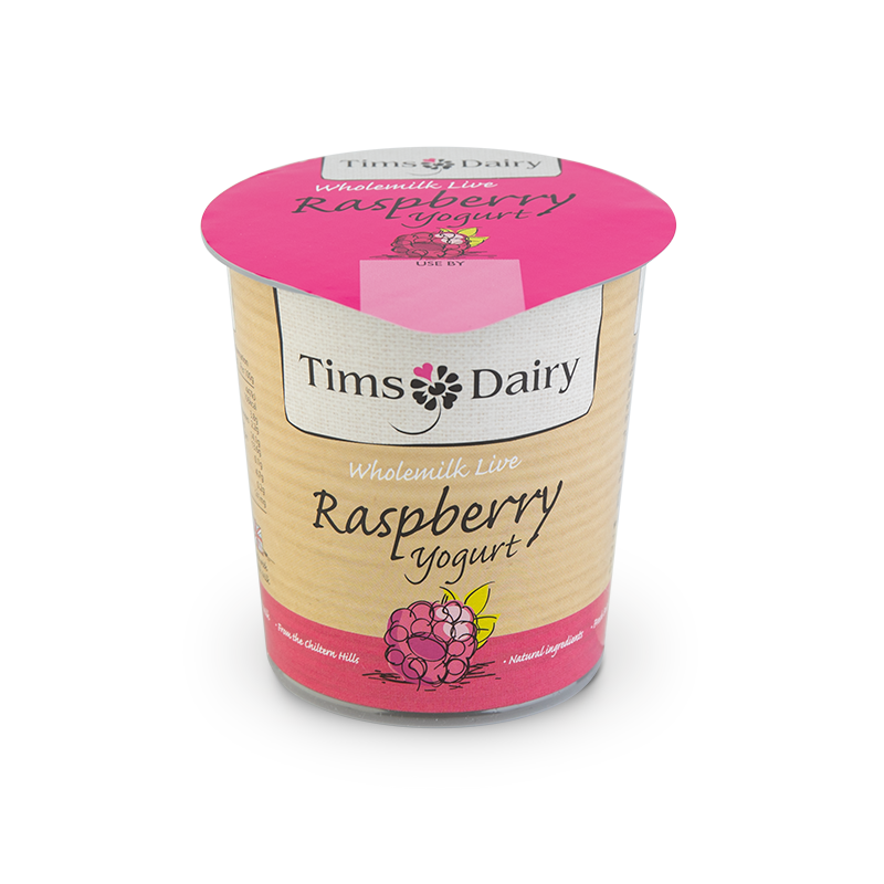 Wholemilk Live Raspberry Yogurt 150g