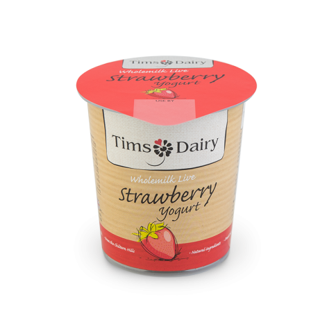Wholemilk Live Strawberry Yogurt 150g