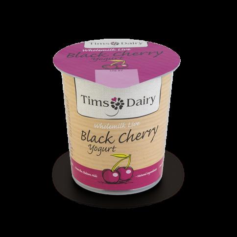 Wholemilk Live Black Cherry Yogurt 150g