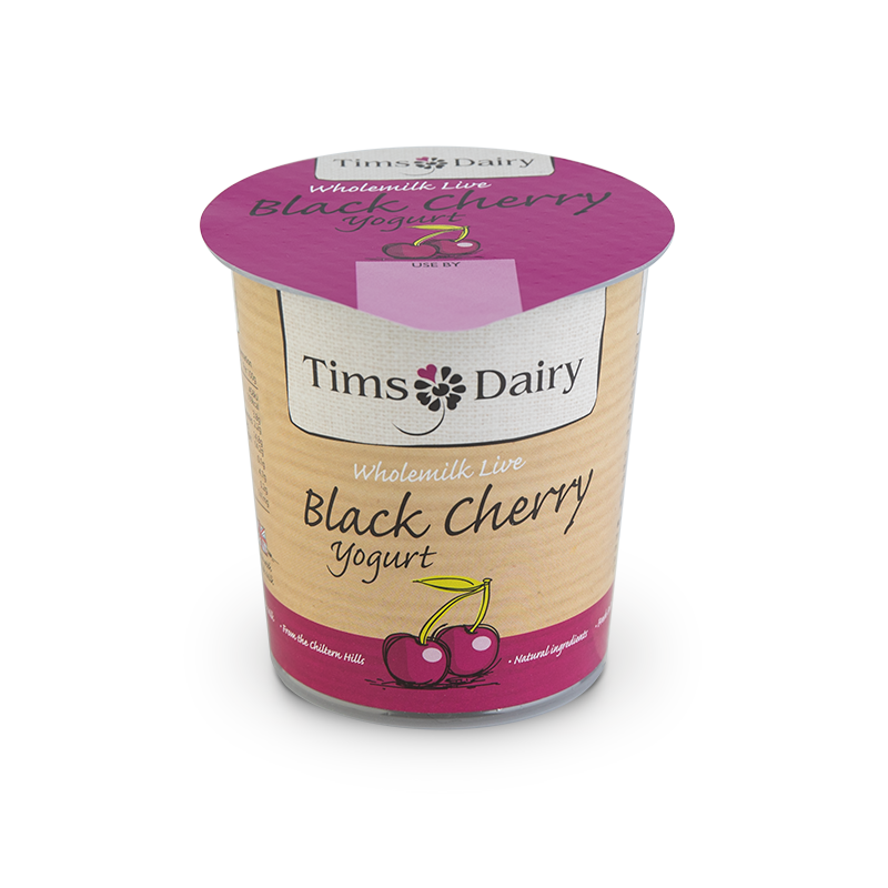 Wholemilk Live Black Cherry Yogurt 150g
