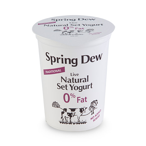 Spring Dew Live Traditional Natural Set Yogurt