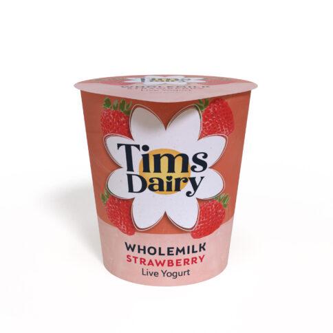 Wholemilk Live Strawberry Yogurt 150g