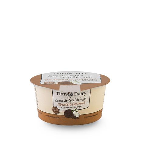 Greek Style Thick Set Toasted Coconut Yogurt 150g
