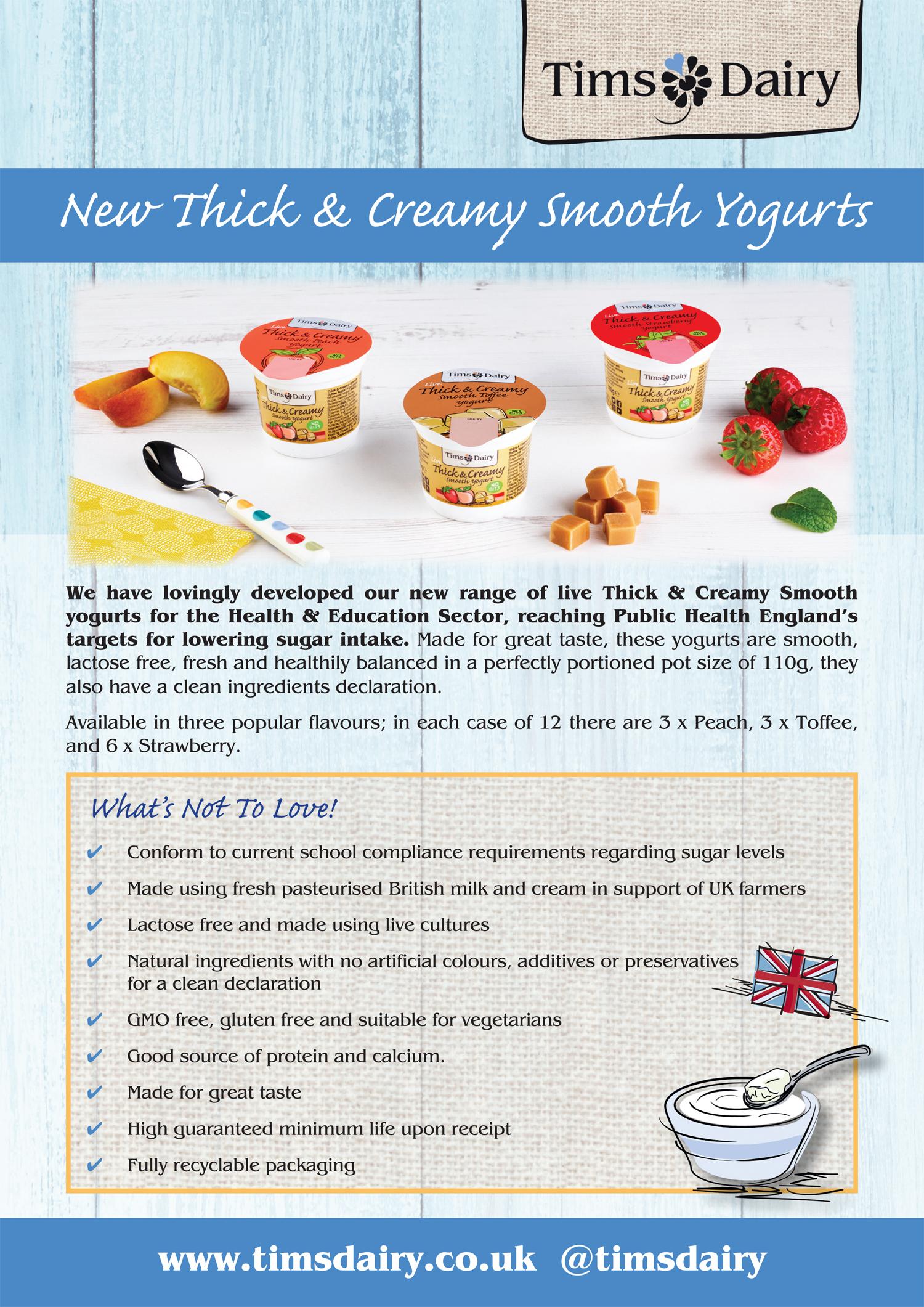 A4 TD Live Lactose Yogurts Plus Points.indd